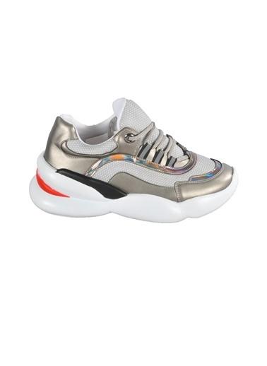 Walkway B-800 Platin Unisex Spor Ayakkabı Gümüş